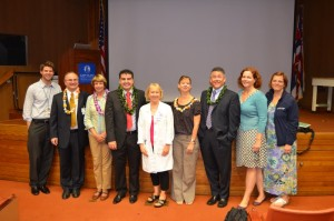 Program faculty with Dr. Aaron Caughey, Visiting Professor 2013 (L-R) TJ Slavin, Ivica Zalud, Gillian Bryant-Greenwood, Frederico Rocha (Fellow), Dena Towner, Claire Wright, Aaron Caughey, Lisa Bartholomew, Janet Burlingame