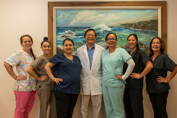 Dr Uohara and staff